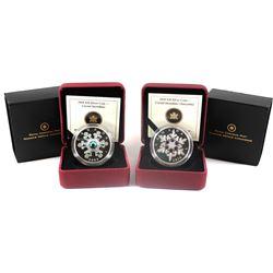 2009 Canada $20 Blue Snowflake & 2010 Canada $20 Tanzanite Crystal Snowflake Fine Silver Coins (TAX
