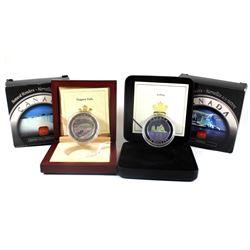 2003 Niagara Falls & 2005 Iceberg Canada $20 Natural Wonders Series Fine Silver Coins (outer cardboa