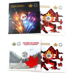 2017 $3 Heart of our Nation Fine Silver (2pcs), 2017 $3 The Spirit of Canada Fine Silver & 2017 Cana