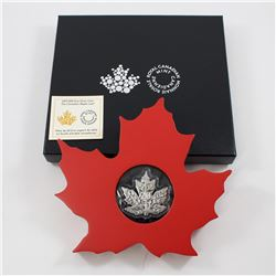 2015 Canada $20 The Canadian Maple Leaf Fine Silver Coin (Shaped Like Maple Leaf). TAX Exempt
