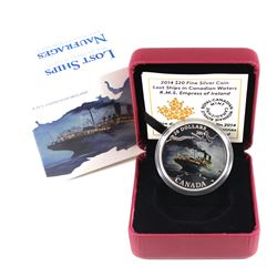 2014 Canada $20 Lost Ships in Canadian Waters - The R.M.S. Empress of Ireland (No Tax)
