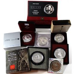 Estate Lot of Canada Commemorative Silver coins: 1973 Canada Dollar, 1973 Montreal Olympic $5 Silver