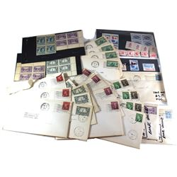Estate Lot of 1940's PB's & FDC's Stamps. Scott Unitrade book value $199. Please view image