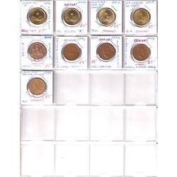 Errors 49 x Canada Minor to Medium Errors & Varieties Loon $1 & $2 dated between 1989 to 2019. Pleas