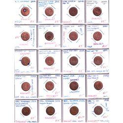 Errors 38x Canada Minor to Medium Error & Varieties 1-cent dated between 1906-2010. Please view imag