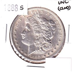 1888-S USA Morgan Dollar Uncirculated (cleaned)