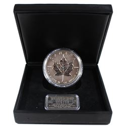 1998 Canada 10oz Silver Maple Leaf 10th Anniversary Coin in Original Black Display Case with Sterlin
