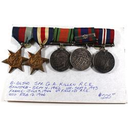 WWII Medal Lot - Voluntary Service Medal, 1939-1945 War Medal, Defence Medal, 1939-1945 Star & The F