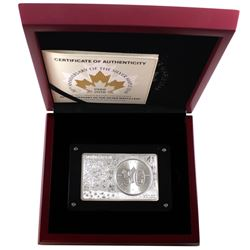1988-2018 Canada 30th Anniversary of the Silver Maple Leaf Fine Silver 1oz Coin and 2oz Bar Set. You