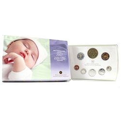Scarce 2007 Canada Baby Sterling Silver Proof Set with Gold Plated Dollar (the Dollar is lightly ton