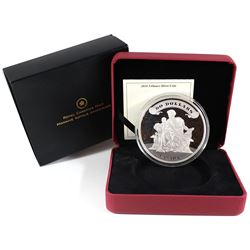 2010 Canada $50 75th Anniversary of the First Bank Notes 5oz Fine Silver Coin (TAX Exempt). Issued b