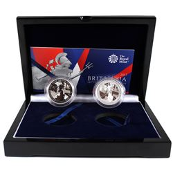 2017 Great Britain The Changing Face of Britain 2-coin Proof & Reverse Proof Fine Silver Britannia S