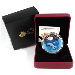 2018 Canada $30 Dimensional Nature: Polar Bears Fine Silver Coin (TAX Exempt).