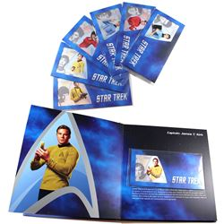 2018 Niue Star Trek 5g Fine Silver Coin Note Full Set with Collector's Album. You will receive Capta