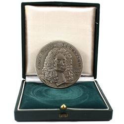 1977 France Henry Francois D'Aguesseau Sterling Silver Medal, Mauviel. The medal weighs 136 grams an