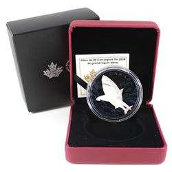 2018 Canada $30 The Great White Shark Fine Silver Coin (capsule is lightly scratched). TAX Exempt. I