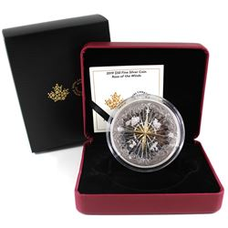 2019 Canada $50 Rose of the Winds Fine Silver Coin (TAX Exempt). Issued by the Royal Canadian Mint