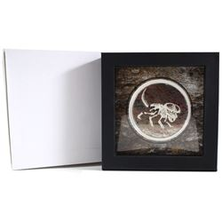 2019 Mongolia 200 Togrog Prehistoric Beasts - Protoceratops andrewsi Coloured 3oz .999 Fine Silver C