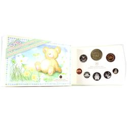 2006 Canada Baby Sterling Silver Proof Set with Medallion and Loon (outer cardboard sleeve is lightl