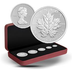 2013 Canada Silver Maple Leaf Anniversary Fractional Set (TAX Exempt). Issued by the Royal Canadian