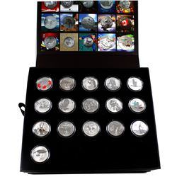 $20 for $20 & $25 for $25 Fine Silver Canada Encapsulated in RCM Collector Set Case. You will receiv