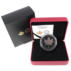 2019 Canada $10 Silver Maple Leaf Limited Edition Fine Silver Coin (capsule lightly scratched). TAX