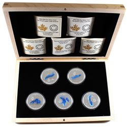 2014-2015 Canada $20 Great Lakes 5-coin Fine Silver Set in Deluxe Case (TAX Exempt).