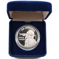 Scarce! 'The Ninety-Nines' Amelia Earhart July 2, 1937 50th Anniversary 1oz .999 Fine Silver Coin in