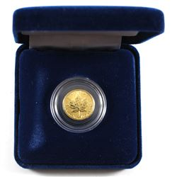 1998 Canada 1/10oz .9999 Fine Gold Maple Leaf Encapsulated in Blue Display Box and Sleeve (TAX Exemp