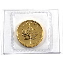1989 Canada 1/4oz .9999 Fine Gold Maple Leaf in Sealed Mint Plastic (TAX Exempt).