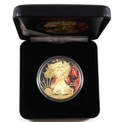 2015 United States $1 Gilt & Colourized Deadpool 1oz American Eagle (Tax Exempt). Comes with COA and