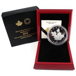 2014 Canada $50 Maple Leaves 5oz Fine Silver Coin. TAX Exempt