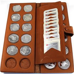 1985-2010 Canada Proof Silver Dollars Encapsulated in Attractive RCM Leather Folder with COAs. You w
