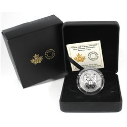 2020 Canada $25 Multifaceted Animal Head - Lynx Fine Silver Coin (small toning spot on lynx head). T