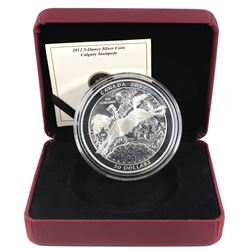 2012 Canada $50 100 Years of the Calgary Stampede 5oz Fine Silver Coin (capsule is scratched & missi