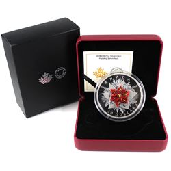 2018 Canada $50 Holiday Splendour 5oz Fine Silver Coin with Murano Glass (TAX Exempt)