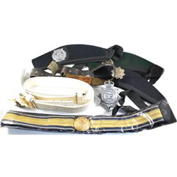 *Estate Lot of British and Canadian Military Belts and Hats. You will receive 3 belts, 3 hats and a