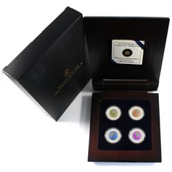 2011-2012 Canada $5 Full Moons of the Algonquin Sterling Silver & Niobium 4-coin Set.