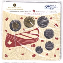 2013 Berlin Commemorative World's Fair of Money Coin and Medal Set #50/500. Issued by the RCM.