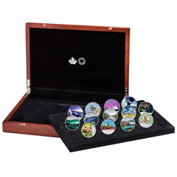 *2017 $10 Celebrating Canada's 150th Fine Silver 13-coin Set in Deluxe RCM Case. You will receive ea
