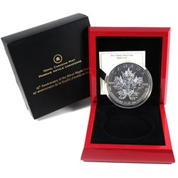 2013 Canada $50 Silver Maple Leaf 25th Anniversary 5oz Fine Silver Coin (capsule has a scratch). TAX