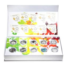 2014 O Canada $10 Fine Silver 10-coin Set with Deluxe Box (TAX Exempt)