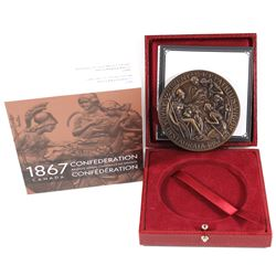 2017 Canadian Heritage Mint 1867 Confederation Bronze Medal Restrike Antique Finish Bronze Medal. Li