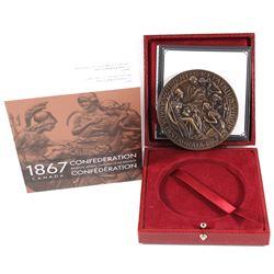 2017 Canadian Heritage Mint 1867 Confederation Bronze Medal Restrike Antique Finish Bronze Medal. Li