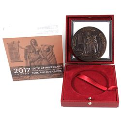 2017 Canadian Heritage Mint 150th Anniversary of Confederation Antique Finish Bronze Medal. Limited