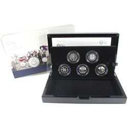 2019 United Kingdom 50-Pence Celebrating 50 years - British Culture Sterling Silver 5-coin set.
