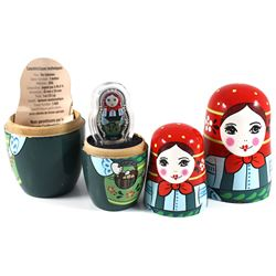 2016 Solomon Islands $5 My Matryoshka Russian Doll with 1oz Fine Silver Coin (capsule & coin have li