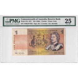 1968 Australia $1 Pick #37b R72, Reserve Bank, Coombs-Randall, S/N: AGK587494, PMG Certified VF-25.