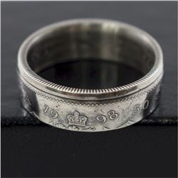 1998 Canada 50-cent Coin Custom Jewellery Ring Size 10 - Made from a real 50-cent coin!