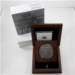2017 Canadian Heritage Mint 10oz 1927 Medal Restrike Antiqued Finish .9999 Fine Silver Coin in Delux